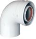 Коаксиальный отвод 45°, диам. 60/100 мм  KHG 71410151