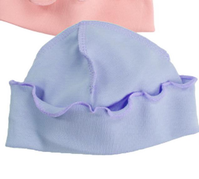 Голубая шапочка для новорожденного