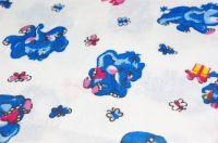 Бязевая пеленка синие слоники