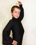 черная рубашка для танцев латина