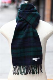 шарф 100% шерсть ягнёнка ,  расцветка Блэк Уотч Черная Стража Британской Империи, плотность 6