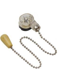 Выключатель для настенного светильника c деревянным наконечником, silver REXANT