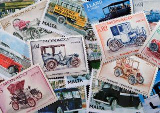 Почтовая открытка Марки. Транспорт