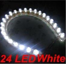 Светодиодная лента на 24 LED диода, влагозащищенная, свет белый, шт