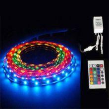 Светодиодная лента RGB мультицвет, 1 метр, на 48 LED диодов, с пультом ДУ