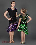 платья для латины с декоративной юбкой