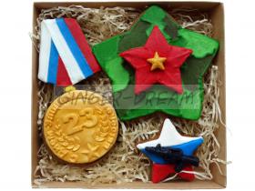 Сладкие подарки на 23 февраля Наборы подарков «Защитники»
