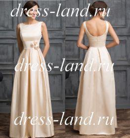 Светло-персиковое вечернее платье
