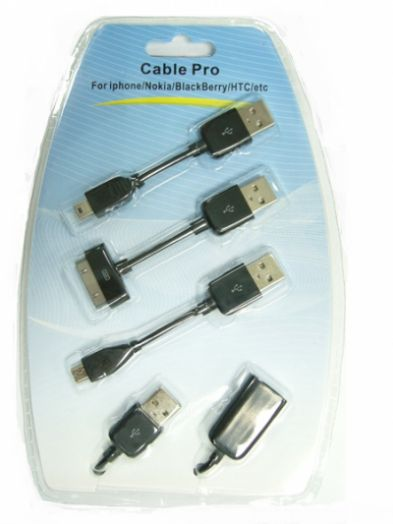 Переходник USB Орбита TD-1102 (3 разъёма,Nokia,iPhone,Black Berry,HTC)