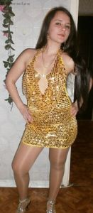 """Платье для гоу-гоу с золотистыми пайетками """"Шик"""""""