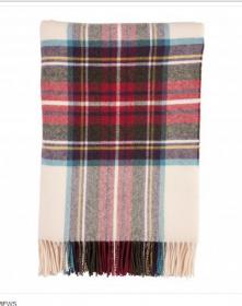 Шотландский плед, 100 % стопроцентная шерсть ягнёнка, расцветка Королевский клан Стюарт Парадный Dress Stewart, плотность 8