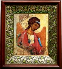 Михаил архангел (копия Рублева) (21х24), киот со стразами