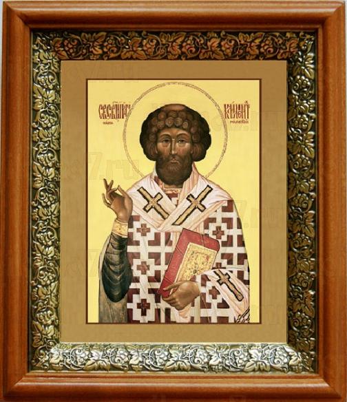 Климент, папа Римский (19х22), светлый киот