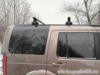 Багажник на крышу Land Rover Discovery, Атлант, аэродинамические дуги