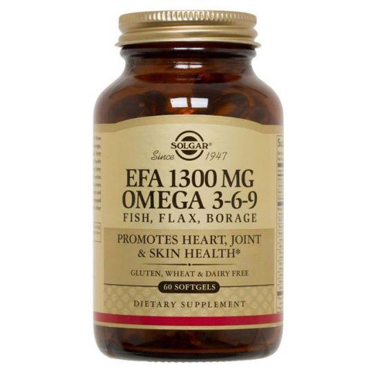 Солгар Комплекс Жирных кислот 1300 мг Омега 3-6-9