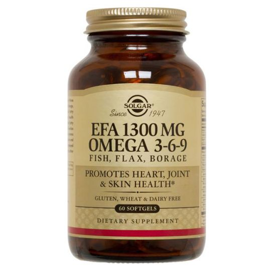 Комплекс Жирных кислот 1300 мг Омега 3-6-9