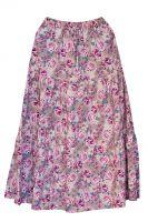 Длинная летняя юбка в пол c розами, хлопок