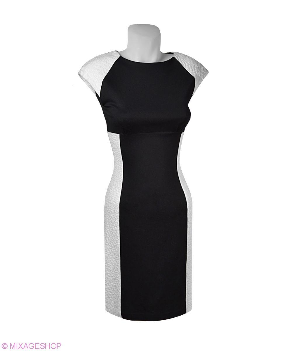 Трикотажное платье с коротким рукавом-реглан