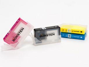 Перезаправляемые картриджи Bursten Nano для HP Photosmart 5510, b110, b010, b210, HP DeskJet 3070A с картриджами HP 178 x 4 шт. С чипами.