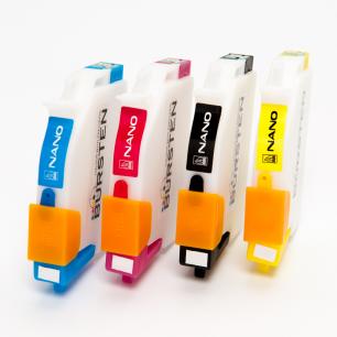 Перезаправляемые картриджи Bursten Nano 2 для Epson C67, C87, CX3700, CX4100, CX4700, CX5700, CX7700 (T0631- T0634) x 4 шт.