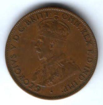 1/2 пенни 1936 г. Австралия
