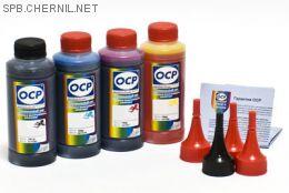 Чернила OCP для принтера и МФУ Canon iP2700, MP230, MP250, MP280 (BK35, C712, M712, Y712) Safe Set, комплект 100 гр. x 4