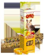 Little One Палочки для хомяков, крыс, мышей и песчанок с фруктами и орехами (2 шт.)