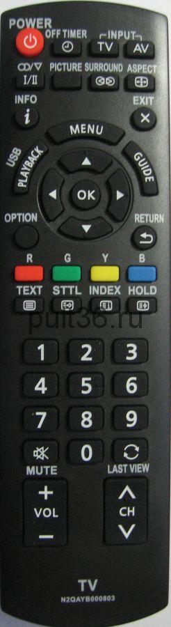 Пульт ДУ Panasonic N2QAYB000803 ic LCD LED TV NEW с функцией usb