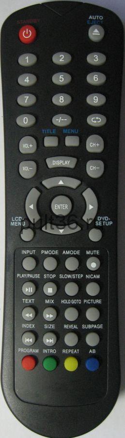 Пульт ДУ Hyundai H-LCDDV2200, AKAI LTC-15S04M черный ic LCDTV +DVD