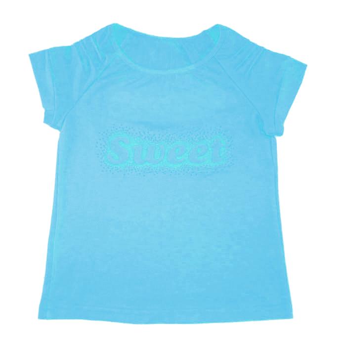 Бирюзовая футболка для девочки Sweet