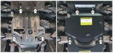 Защита картера, Motodor, сталь 3мм., V - 2.8л TD