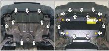 Защита радиатора, Motodor, сталь 3мм., V - 2.8л TD
