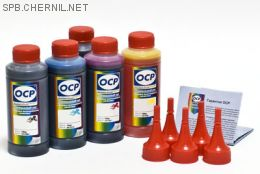 Чернила OCP для принтера и МФУ Canon MG5740, MG6840, TS5040, TS6040 (BKP44, BK153, C153, M153, Y153), картриджи PGI-470, CLI-471, комплект 100 гр. x 5