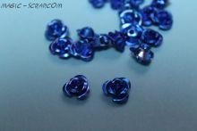 Розочки металлические синие
