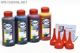 Чернила OCP для принтера и МФУ Canon iP2840, MG2440, MG2540 (BKP44, C136, M136, Y136), картриджи PG-445, CL-446 комплект 100 гр. x 4