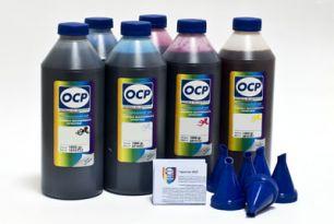 Комплект чернил ОСР (EGO, BKP110/111, CP110, YP116, RP110, MP110, VP110) для картриджей EPS R800/R1800, 1000 gr x 8