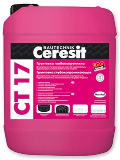Грунтовка глубокого проникновения Ceresit CT 17, 10 л