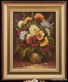 Натюрморт Букет цветов, сер. 20 в., артикул 01577