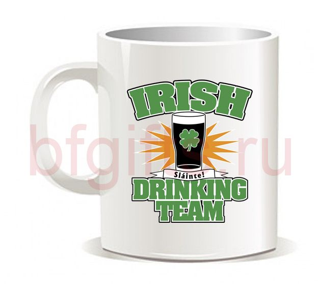 "Кружка ""Irish Drinking team"""