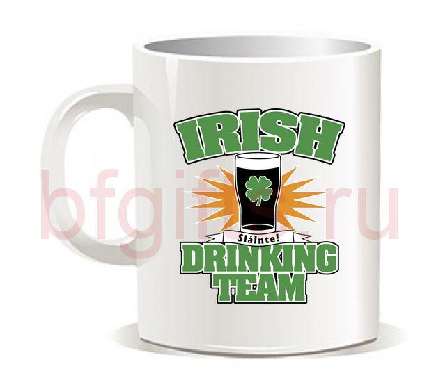 "Кружка ""Irish Drinking team"""