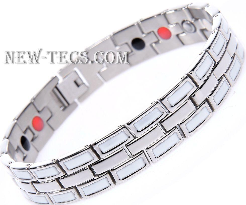 Магнитный браслет STB-002NT-Mj-steel
