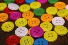 Декоративные пуговицы цветные