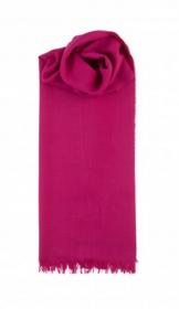 невесомый тонкорунный  палантин (большой шарф) 100% шерсть мериноса, Маджента Magenta. плотность 1