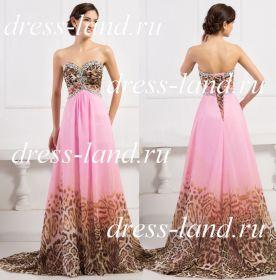 Вечернее платье с леопардовым принтом