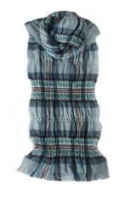 стильный шарф 100% шерсть, жатый эффект, расцветка  Принцесса Диана. плотность 2