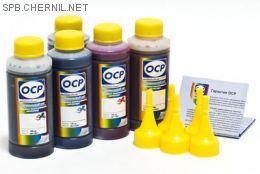 Чернила OCP для принтера HP 7510, С5383, c310 (BKP249, BK143, C143, M143, Y143), картриджи HP 178, комплект 100 гр. x 5