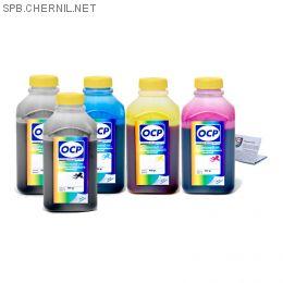 Чернила OCP для принтера HP 7510, С5383, c310 (BKP249, BK143, C143, M143, Y143), картриджи HP 178, комплект 500 гр. x 5
