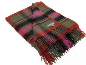 Легкий шотландский плед, 100 % стопроцентная шотландская овечья шерсть, расцветка клана Брюс BRUCE OF KINNAIRD