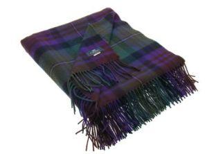 легкий плед , 100 % стопроцентная шотландская овечья шерсть, расцветка Isle of Skye - Айл оф Скай, плотность 6
