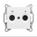 Розетка TV-R проходная 8 dB Sedna (белый)